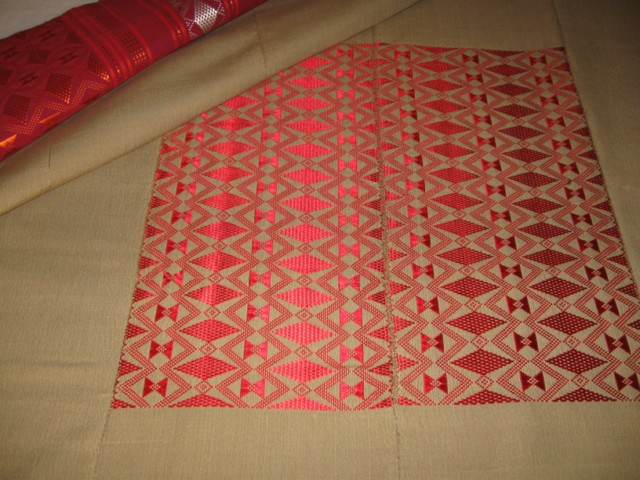 Textile de table sénégalais